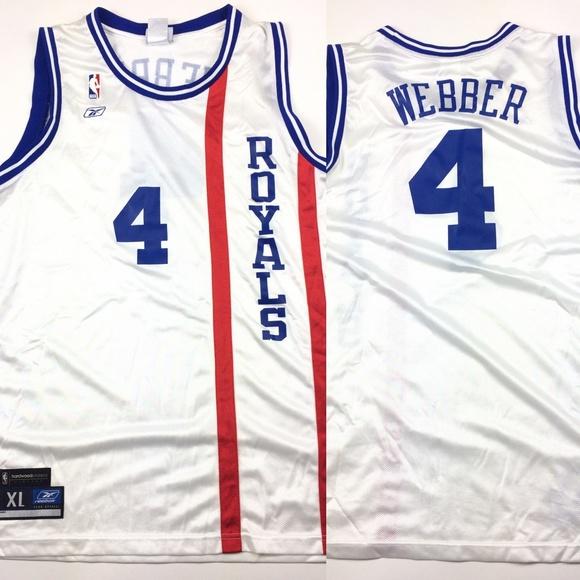 pretty nice b8318 6c2c8 Reebok Chris Webber Royals Basketball NBA Jersey